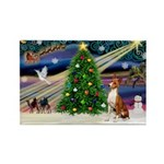 XmasMagic/Basenji #2 Rectangle Magnet (10 pack)