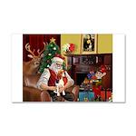 Santa's Beagle Car Magnet 20 x 12