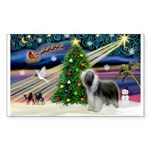 Xmas Magic & Beardie Sticker (Rectangle 50 pk)