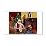 Santa's Bedlington Car Magnet 20 x 12