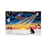 XmasSunrise/Boston T #4 Rectangle Magnet (10 pack)