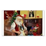 Santa's Boxer (#1) Sticker (Rectangle 50 pk)