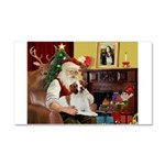 Santa & His Brittany Car Magnet 20 x 12