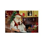 Santa & His Brittany Rectangle Magnet (10 pack)