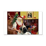 Santa's Bull Mastiff Car Magnet 20 x 12