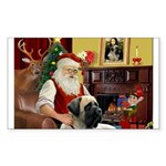 Santa's Bull Mastiff Sticker (Rectangle 10 pk)