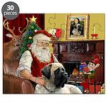 Santa's Bull Mastiff Puzzle