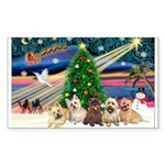 XmasMagic/ 5 Cairns Sticker (Rectangle 10 pk)