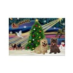 Xmas Magic & 2 Cairns Rectangle Magnet