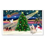 XmasMagic/ Cairn T Sticker (Rectangle 10 pk)