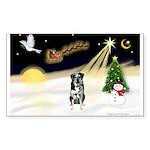 Night Flight/Catahoula Sticker (Rectangle 50 pk)