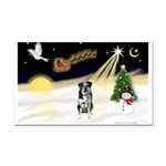 Night Flight/Catahoula Rectangle Car Magnet