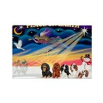 XmasSunrise/5 Cavaliers Rectangle Magnet (10 pack)
