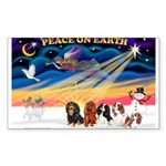 XmasSunrise/5 Cavaliers Sticker (Rectangle 50 pk)