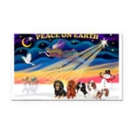 XmasSunrise/5 Cavaliers Rectangle Car Magnet