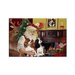 Santa's 2 Cavaliers Rectangle Magnet (10 pack)