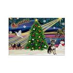 Xmas Magic & Chihuahua Rectangle Magnet (10 pack)