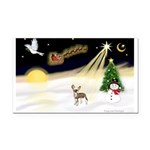 Night Flight/C Crested #9 Rectangle Car Magnet