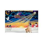 XmasSunrise/Shar Pei 5 Rectangle Magnet (10 pack)
