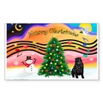 XmasMusic2/Shar Pei Sticker (Rectangle 10 pk)
