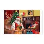 Santa's Shar Pei Sticker (Rectangle 10 pk)