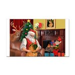 Santa's Shar Pei Rectangle Car Magnet