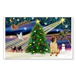 XmasMagic/ Shar Pei Sticker (Rectangle 10 pk)