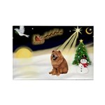 Night Flight/Chow #2 Rectangle Magnet (10 pack)