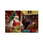 Santa's Chow Chow Rectangle Magnet (10 pack)