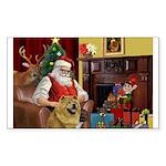 Santa's Chow Chow Sticker (Rectangle 10 pk)