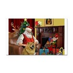 Santa's Chow Chow Rectangle Car Magnet