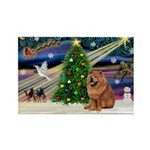 Xmas Magic & Chow Rectangle Magnet (10 pack)