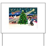 Xmas Magic & Collie Yard Sign