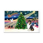 Xmas Magic & Collie Rectangle Car Magnet