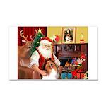 Santa's Collie Car Magnet 20 x 12