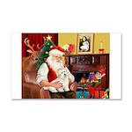 Santa's Coton Car Magnet 20 x 12