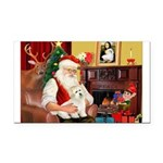 Santa's Coton Rectangle Car Magnet