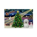 XmasMagic/ Coton Rectangle Magnet
