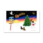 XmasSigns/2 Dachshunds Car Magnet 20 x 12