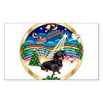 XmasMusic 3/Dachshund 17 Sticker (Rectangle 10 pk)