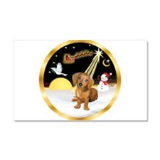 Night Flight/Dachshund #13 Car Magnet 20 x 12