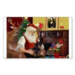 Santa's Dachshund (bt) Sticker (Rectangle 50 pk)