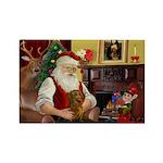 Santa's Dachshund (b) Rectangle Magnet