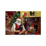 Santa's Dachshund (BT) Rectangle Magnet (10 pack)