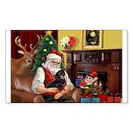 Santa's Dachshund (BT) Sticker (Rectangle 50 pk)