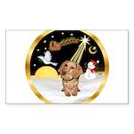 Night Flight/Dachshund #11 Sticker (Rectangle 50 p