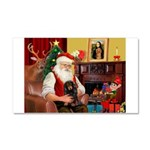 Santa's Dachshud (LH) Car Magnet 20 x 12