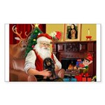 Santa's Dachshud (LH) Sticker (Rectangle 50 pk)