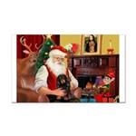 Santa's Dachshud (LH) Rectangle Car Magnet