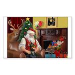 Santa's Dobie (Bz) Sticker (Rectangle 50 pk)